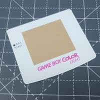 Game Boy Color Light - Raspberry Candy logo - Glass